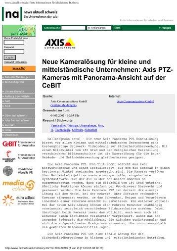 news aktuell schweiz: Erste Informationen für Medien und Business