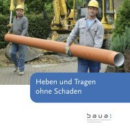 Heben und Tragen ohne Schaden - Bundesanstalt für Arbeitsschutz ...
