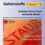 Schütze Deine Haut, vermeide Staub... - Bundesanstalt für ...