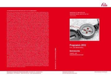 Programm 2012 - Bildungswerk der Bayerischen Wirtschaft e.V.