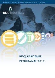 BDC|AkADemie progrAmm 2012