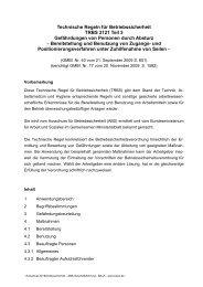Technische Regel für Betriebssicherheit TRBS 2121 Teil 3 ...