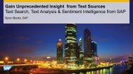 Gain Unprecedented Insight from Text Sources Text Search, Text ...