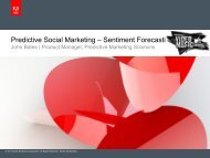 Predictive Social Marketing – Sentiment Forecasting