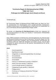 TRBS 1201 Teil 2 Prüfungen bei Gefährdungen durch Dampf und ...