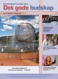 Vi presenterer programmet for Sommerstevnet i Drammen 6 – 11 juli 2010