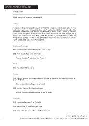 CV em PDF - Galeria Eduardo H. Fernandes