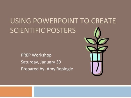 using powerpoint to create scientific posters
