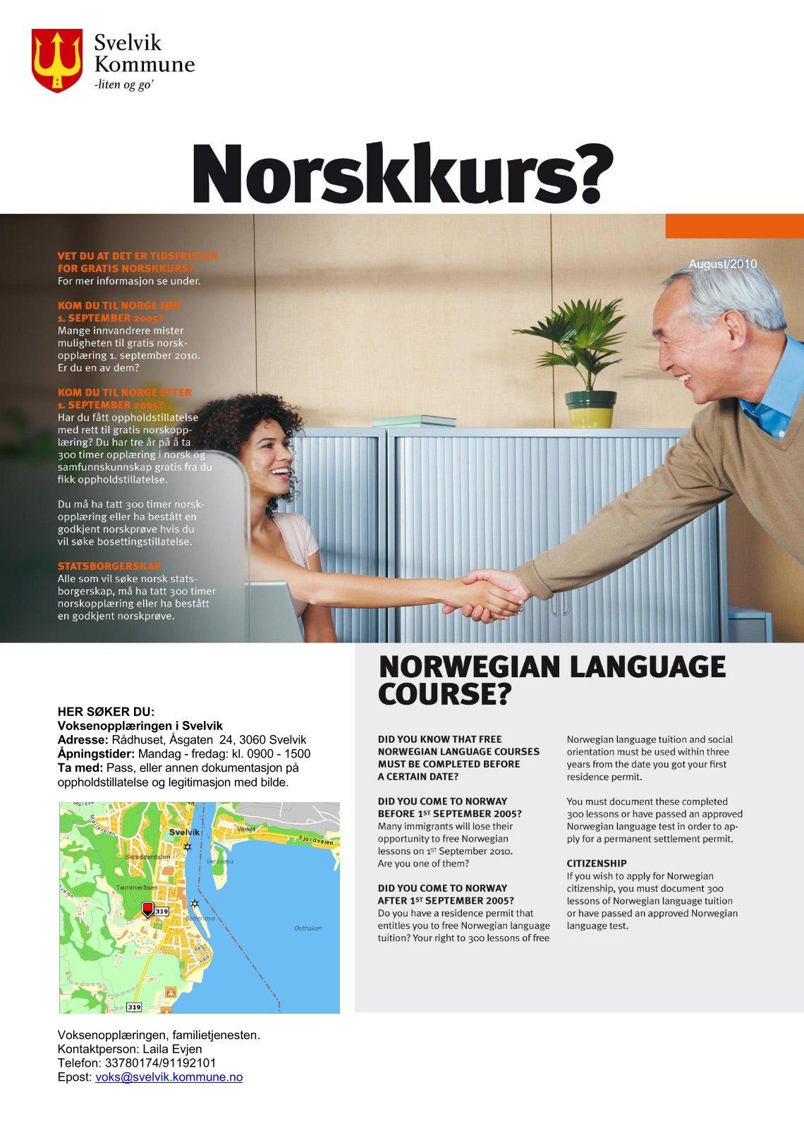 Norskkurs online dating