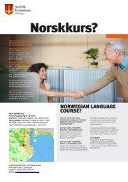 Brosjyre om norskkurs - Svelvik kommune