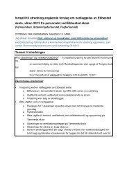 Innspill til utredning angående forslag om ... - Svelvik kommune
