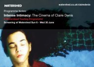 Intense Intimacy The Cinema of Claire Denis