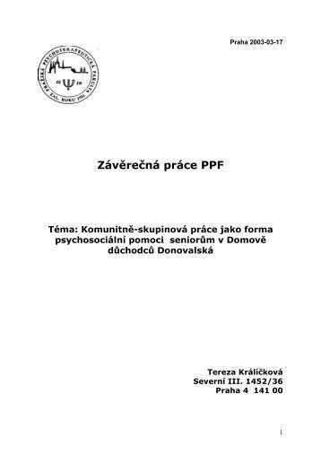 Závěrečná práce PPF