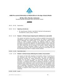 Activity Schedule AIBD Workshop on Media Ethics in the Age of ...