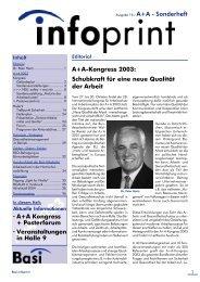 A+A Kongress + Posterforum · Veranstaltungen in Halle 9 A+A ...