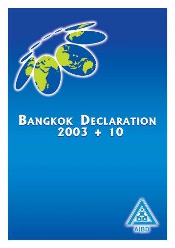 BANGKOK DECLARATION