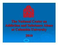 The National Center on Addiction and Substance Abuse at Columbia University 2010