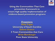 Using the Communities That Care prevention framework to ensure ...