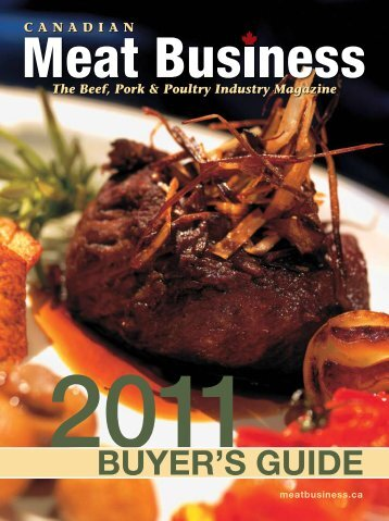 BUYER'S GUIDE - Canadian Meat Business