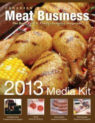 2013 Canadian Meat Business Media Kit