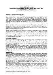 Workshop-Bericht (PDF-Datei, 99 KB)  - Bundesanstalt für ...