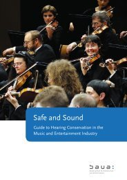 Safe and Sound - Guide to Hearing Conservation in the Music and ...