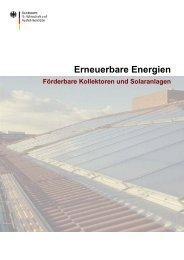 Liste der förderfähigen Kollektoren und Solaranlagen - Bafa