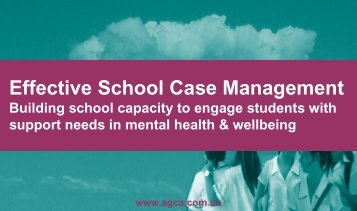 Effective School Case Management