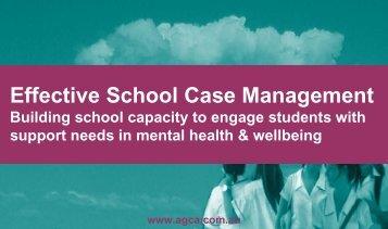 Effective School Case Management