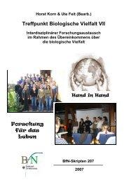 BfN -Skripten 207, 2007 - Bundesamt für Naturschutz