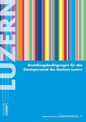 Anstellungsbedingungen Kanton Luzern
