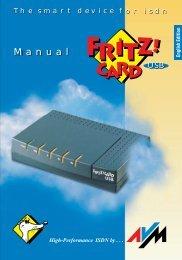 FRITZ!Card USB Manual, English Edition - AVM