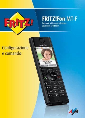 Manuale telefono Fritz!Fon - Assistenza Tecnica 187 Alice Telecom ...