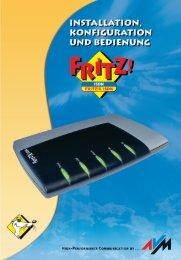 Handbuch FRITZ!X ISDN - AVM