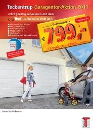 Teckentrup Garagentor-Aktion 2011 Teckentrup ... - Weinmann & Co.