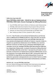 Neue FRITZ!Box 6340 Cable – WLAN für alle am ... - AVM