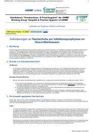 Anforderungen an Handschuhe zur Infektionsprophylaxe im - AWMF