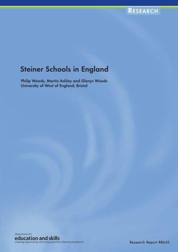 Steiner Schools in England