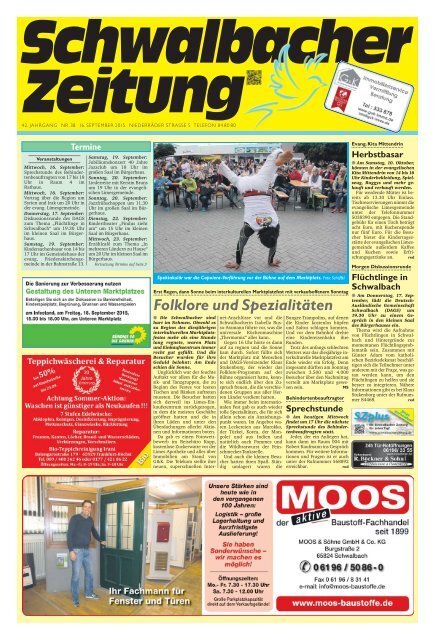 Schwalbacher Zeitung Ausgabe Kw 38-2015