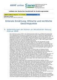AWMF online - Leitlinien Ernährungsmedizin: Ethische und ...