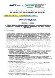 AWMF online - Leitlinien Dermatologie / Onychomykose (Tinea ...
