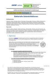 012-010 S1 Bakterielle Gelenkinfektionen 05-2008 05-2013 - AWMF