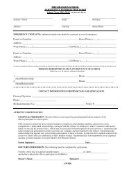 Emergency-Medical Forms 2011-12 - The Branson School