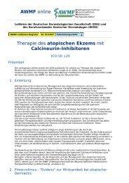 AWMF online - Leitlinien Dermatologie: atopisches Ekzem mit ...