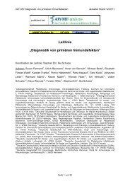 """S2-Leitlinie """"Diagnostik von primären Immundefekten"""" - AWMF"""