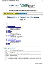 Diagnostik und Therapie der Ichthyosen AWMF online