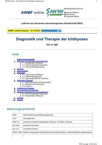 diagnostik und therapie der borderline eine eigenst 228 ndige medik 580 | diagnostik und therapie der ichthyosen awmf online