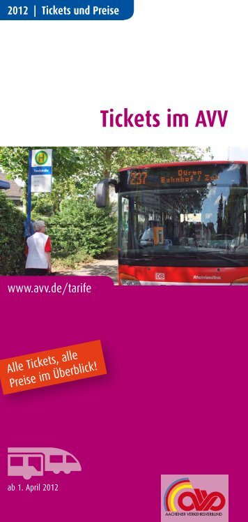 Tickets im AVV