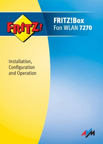 FRITZ!Box Fon WLAN 7270 (Manual) - AVM