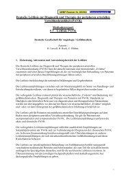 Deutsche Leitlinie zur Diagnostik und Therapie der ... - AWMF